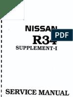 Nissan R34 Skyline Service Manual Supplement