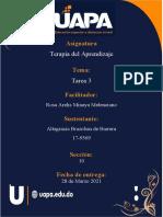 Terapia Del Aprendizaje Tarea 3 Altagracia Brazoban