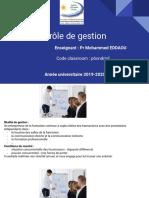 Séquence n°1 - Présentation générale du contrôle de gestion
