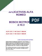 Bosch motronic 2.10.3 - Diagnóstico 145 1.7