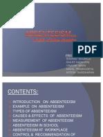 Absenteeism Final presentation