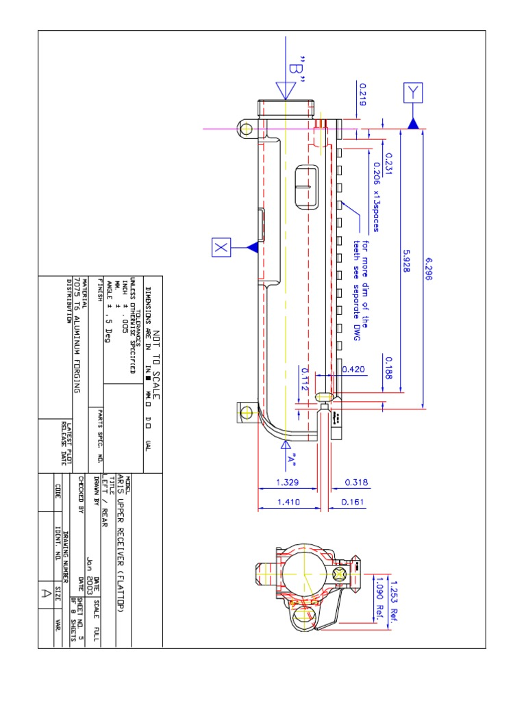 Ar15 a3 style upper receiver blueprints malvernweather Choice Image