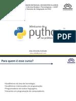 Minicurso de Python
