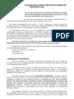 Texto HONORÁRIOS ADVOCATÍCIOS no CPC