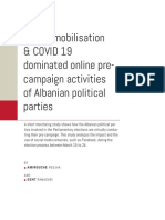 Voters Mobilisation COVID 19 Dominated Online Pre Campaign Activities