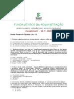 Questionário 30.11.2020 - O Desenvolvimento Organizacional e as Mudanças