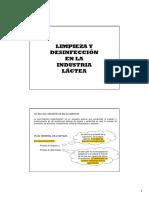 Limpieza y Desinfeccion en La Industria Lactea