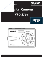 foto digital SANYO- manual de utilizare