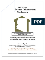 Arizona Foreclosure Information Workbook. A Tool To Educate Homeowners About The Foreclosure Process