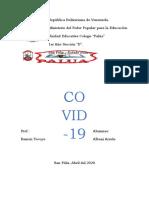 Albani Arzola Trabajo Covid-19  1ero sección D