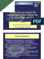 diseño de digestores anaerobios con grasas