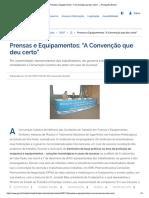 Ministério do trabalho, Convenção sobre prensas e similares