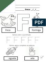 Atividades de Alfabetizacao Letra f 23