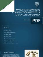Maquinaria antes de la época contemporánea - Cesar David Duarte