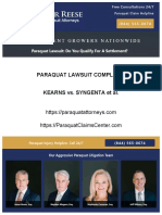 Paraquat Lawsuit Filed Alleging Parkinsons Disease - (844) 565-0674