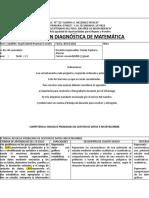 Evaluación diagnóstica de Matemática 4to año de secundaria