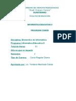 Prog Inform Educ II 51H