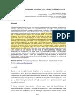 Artigo FORMAÇÃO DE PROFESSORES UM OLHAR PARA A SUBJETIVIDADE DOCENTE