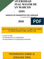 MODULO DE DIAGNOSTICO DEL LENGUAJE (MATERIAL DE APOYO)