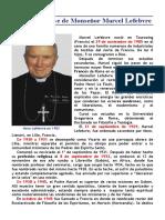 Biografía breve de Monseñor Marcel Lefebvre