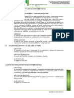 ESPECIF. TECNICAS DE  PARTIDAS DE LOSA MULTIDEPORTIVA
