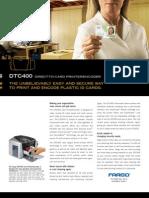 DTC400 Impresoras de Credenciales Fargo Mexico Ventas Ribbons Manual Usuario