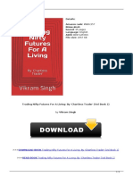 Trading Nifty Futures for a Living by Chartless Trader Vol Book 1