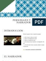 Personaje y Narrador