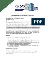 Cotizacion Levantamiento Topografico Banco de La Republica - Ipiales