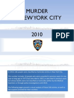 NYPD 2010 Murder stats