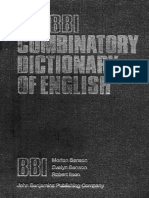 The BBI Combinatory Dictionary of English by Morten Benson