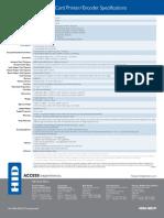 www.idsecureworld.com DTC400e Especificaciones Impresora de Credenciales