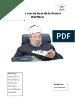 La Sunna Comme Base de La Finance Islamique