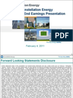 2010 Year-End Earnings Presentation - SUPPORTING MATERIALS