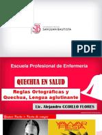 PPT Semana 3 Reglas Ortograficas y Quechua, Lengua Aglutinante