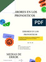 5.3 Errores en los pronosticos