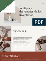 5.5.1 Ventajas y Desventajas de los inventarios.