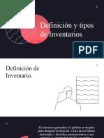 5.5 Definición y tipos de Inventarios