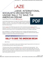 International Socialists Orchestrate Unions' Rally to 'Save the American Dream'  The Blaze