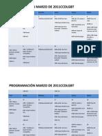 Programación de actividades CCDLGBT Marzo 2011