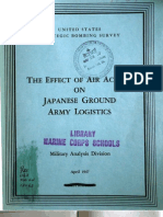 USSBS Report 64, Military Analysis Division, Effect of Air Action on Japanese Ground Army Logistics