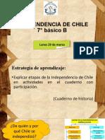 lunes 29 de marzo, Independencia de Chile, 7°B