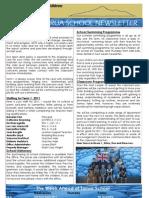 week 1 newsletter T1 2011