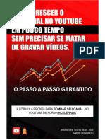 Ebook - Como Crescer o Seu Canal no Youtube em Pouco Tempo Sem Precisar se Matar de Gravar Vídeos