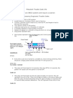 Mitsubishi Diamante 1992 Trouble Code Info