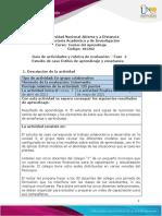 Guia de Actividades y Rúbrica de Evaluación - Fase 4 - Estudio de Caso Estilos de Aprendizaje y Enseñanza