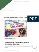 Aprenda fazer suculentas coloridas