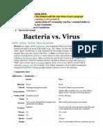 Bacteria vs Virus Article