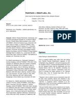 Rheinfrank v. Abbott Labs._ Inc._ 2015 U.S. Dist. LEXIS