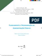 Livro TextoPlanejameto_e_Programacao_na_Administracao_Publica